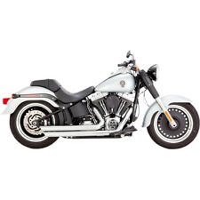 Vance & Hines Chrome Big Shots Staggered Exhaust for 1986-2017 Harley Softail