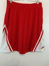 "NIKE BASKETBALL Men Basketball Shorts Sz XL Red/White 10"" Inseam"
