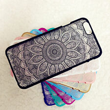 RH18 Rubberized Henna Paisley Mandala Hard Case For iPhone 7 6 6s 6 Plus 5 5C SE