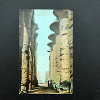 Vintage old postcard Egypt , Giza Pyramids , Karnak The Inner Hypostyle  EP235