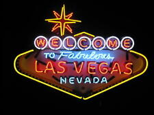 "New Welcome TO Fabulous Las Vegas Nevada Beer Bar Neon Light Sign 24""x20"""