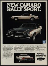 1975 CHEVROLET CAMARO Rally Sport Coupe or LT White Black Orange Car VINTAGE AD