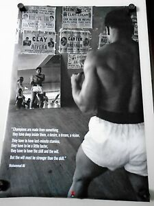"Muhammad Ali -  #31040 / Original Poster / GYM / Exc.+ New cond.- 24 x 36"""