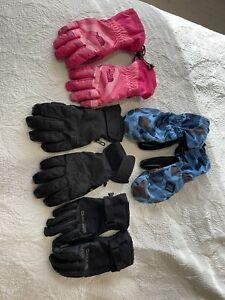 Lot of 4- Burton (2) - The North Face (1)- Danke (1)  Kids Gloves