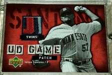 2006 Upper Deck Game Patch jersey relic Johan Santana Twins 2 color Twins