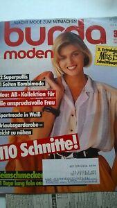 Burda Mode, Schnittmuster Zeitschrift, März 1985 & Miss B Urlaubsmode
