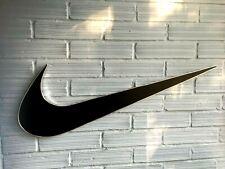 "Nike Logo Sign 33"" Display Store Swoosh Advertising Black Wall Hanging Plastic"