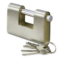 ARMOURED WEATHERPROOF STAINLESS STEEL 90MM CONTAINER PADLOCK WITH 4 KEYS