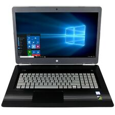 "HP 17t Laptop 17 17.3"" i7-7700HQ Quad 16GB 128GB + 1TB 2GB GTX 1050 Backlit Key"