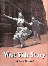 """Stephen Sondheim """"WEST SIDE STORY"""" Chita Rivera 1958 London Souvenir Program"""