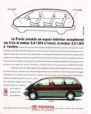 PUBLICITE  ADVERTISING  1991   TOYOTA   PREVIA