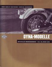 HARLEY Wartungshandbuch Dyna 2002 FXD Low Rider Wide Glide DEUTSCH 99481-02G OVP