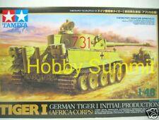 Tamiya 1/48 German Initial  TIGER I  Africa Corps Tank  Kit 32529