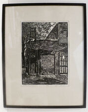 CHARLES SURENDORF OLD FIRE HOUSE ORIGINAL WOOD BLOCK PRINT-LISTED/CALIFORNIA