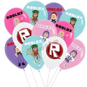 "10 X 12"" ROBLOCKS Multi Colour Latex Printed Balloons Birthday Party, GIRLS"