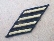 US Army Enlisted MALE Service Stripes (4) 12 yr Sew On Dress Uniform Gold/Black