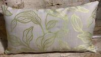 51cm x 30cm Lime Green Textured Leaf Chenille Handmade Cushion Cover EOKsews
