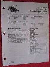 1994 SIMPLICITY MF AGCO FRONTCUT 2300, 1300 SER. RIDING MOWERS SETUP-ADJ MANUAL