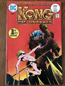Kong The Untamed #1 (1975, DC) 1st Kong; Bernie Wrightson cover; $22 Value!
