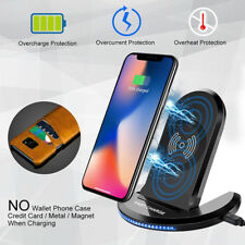 For Samsung Galaxy Note9 S10 Wireless Qi Fast Charger Charging Stand Dock Pad