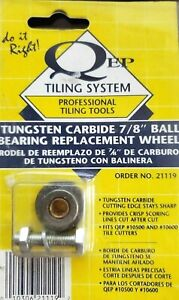 """QEP 7/8"""" Tungsten-Carbide Tile Cutter Wheel with Ball Bearings for 10600"""