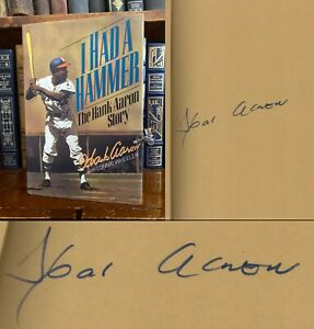I Had a Hammer HAND SIGNED by Hank Aaron! Milwaukee Atlanta Braves! 755! 1st/1st