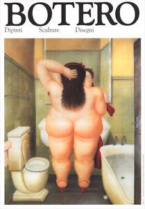Fernando BOTERO The Bath 1991 Exhibition Poster 19-1/2 x 13-1/2