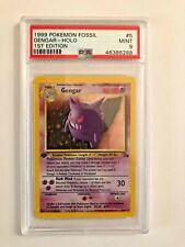 Pokemon Fossil #5 Gengar-Holo 1st Edition PSA 9
