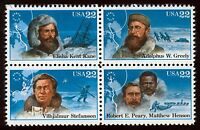 #2223a 22c Arctic Explorers, Se-Tenant Block, Mint **ANY 4=FREE SHIPPING**