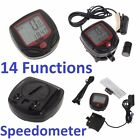 DIGITAL LCD WATERPROOF BICYCLE BIKE COMPUTER SPEEDOMETER ODOMETER STOPWATCH