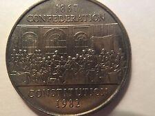 1982 Canada Nickel Dollar Coin 1$ Confederation Constitution 1867