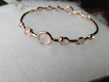 Ippolita rose over sterling silver 12 station bracelet topaz crystal stones new