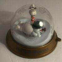 💛 Blockbuster Video Whirl Around Christmas Ornament 1999 Frosty the Snow Man A4
