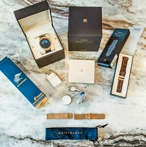 Rare Bundle Lot Gold Huawei Smart Watch Android 42mm Classic 1st Generation