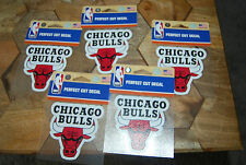 """NEW LOT OF 5 CHICAGO BULLS PERFECT CUT DECAL STICKER 3.25"""" X 3.25"""""""