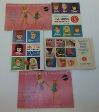 Lot of 5 Vintage Barbie Ken Skipper Midge Allan Doll Fashion Catalogs Booklets