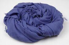 Chan Luu Cashmere & Silk Baja Blue Wrap Scarf Shawl, 62 x 58 inches, NWT
