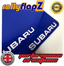 Mud Flaps & Fixings SUBARU IMPREZA Hatchback 08-14 Blue 4mm PVC -Subaru White