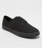 Mossimo Supply Women's Emilee Canvas Lace Up Casual Sneaker, Black