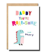 Buy fathers day dinosaurs cards stationery for greeting cards ebay dad birthday card for father from son daughter personalised handmade dinosaurs m4hsunfo