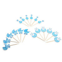 Blue Pink Birthday Party Baby Shower Boy/Girl Cupcake Toppers Cake Decorations