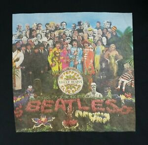 Ben Sherman - Beatles Sgt Peppers Lonely Hearts Club Band Black T Shirt Size XXL