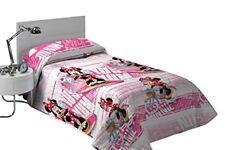 Colcha Copriletto Minnie Sports Rosa. Lic. oficial Disney. cama 90 cm