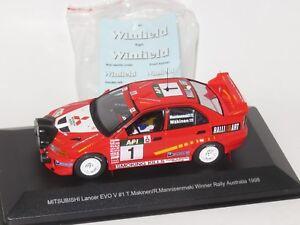 1/43 Mitsubishi Lancer Evo V  Winfield Winner Rally Australia 1998  T.Makinen