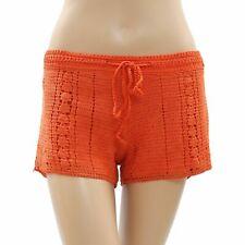 Element Crochet Lace Orange Shorts Front Tie Cotton Boho Summer S New 171625
