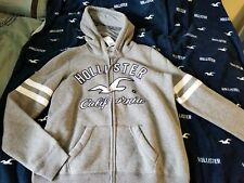 Hollister Womens Hoodie Gray Medium Full Zip NEW with Tags