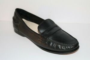 Cole Haan Brand Black Leather Slip On Loafer Shoes Size 9.5B NEW