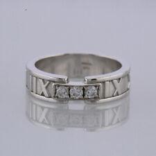 Tiffany & Co. Diamond Atlas Ring 18ct White Gold Size M 1/2