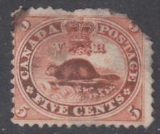 "Canada Scott #15  5 cent Beaver vermilion ""First Cents""  filler"