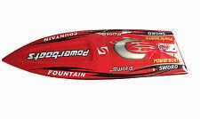 DT E36 Sword Electric RC Speed Racing Boat 80km/h 120A ESC Fiber Glass PNP Red